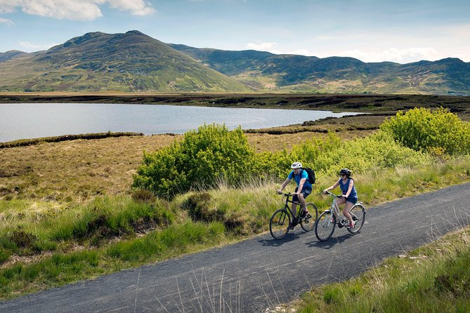 "Escape the bustle of urban life on the 42km Great Western Greenway, the longest off-road walking and cycling trail in Ireland. The World Class Great Western Greenway is a traffic free cycling and walking trail which follows the route of the renowned Westport to Achill railway which closed in 1937.The Greenway traverses Ireland's Atlantic coast between Westport town and Achill Island and visits the picturesque villages of Newport and Mulranny. It passes by some of the West of Ireland's most dramatic mountains and offers magnificent views of Clew Bay and its many islands. The amount of cycling routes around Westport are testament to the unbelievable scenery you will be cycling through. The local Council, Tourist Industry, businesses and local people have all got together to assist in making this area ""Bicycle Friendly"", making it the activity and cycling centre of Ireland. <br>Hop on your electric bike and be ready to enjoy the area. <br>Pax: min 1, max 20. Available every day of the year"