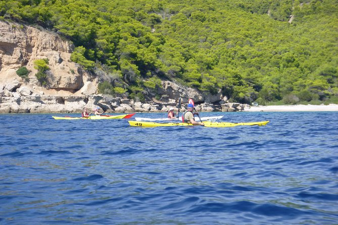 Epidavros sea kayak at the Ancient sunken city tour, small ancient theater, Corinto, GRECIA