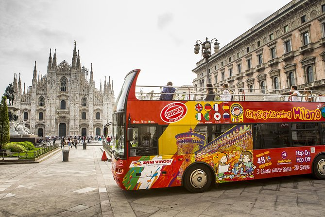 Discover the best that Milan has to offer with a 1 day, 48-hours or 72-hours hop-on hop-off bus tour. See all the main sights from aboard an open-top double-decker bus. Cruise by the opulent La Scala opera house, the magnificent Gothic Milan Cathedral (Duomo) and Il Cenacolo Vinciano, home to Leonardo da Vinci's famous masterpiece 'The Last Supper.' Use your ticket on three different bus routes, which cover all of Milan's most popular attractions, hopping on and off as often as you like.<br><br>Download now Sightseeing Experience APP: an easy and practical way to orient yourself, move, visit and discover the city.<br><br> Inside the APP you find a free walking tour of the center available in 5 languages and an interactive map that shows you the position of the buses in real time, the waiting time at each stop and your position so you can easily reach the nearest stop.
