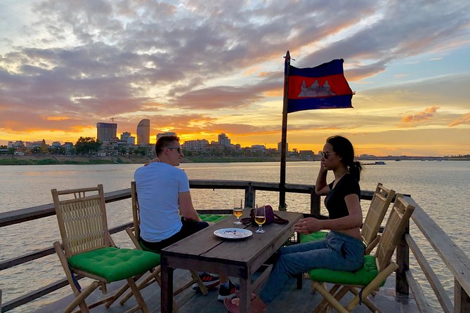 Get a private tour on the boat for two hours on Tonle Sap and Mekong river. We will give you a great opportunity to explore the Mekong, Tonle Sap and Four Faces River, Diamond Island, Fishing Village, Stilted Houses, lifestyle of the people who live along the riverbank and the city sunset.