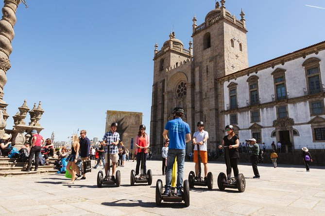Explore Porto on a self-balancing electric Segway and follow a local guide through the city's UNESCO-listed Ribeira neighborhood.<br><br>Admire the top Porto attractions like pretty São Bento Station, Ponte de Dom Luis I, Porto Cathedral and Bolhão Market.<br>Soak up the city's bustling ambiance and hear tales of Roman history.<br><br>For your safety, we will start with a briefing about how to ride the segway. With the helmet on, the super guide/storyteller will take you the most emblematic neighborhoods and show you the people of Porto and the most picturesque corners this city has to offer.<br><br>The experience is available for 3 hours as a public or a private tour. You will feel our love for Porto Amazing City. Come join us! <br><br>*Public or Private Tour. Choose whats suits you the best!!<br><br>TOUR HIGHLIGHTS:<br>Cordoaria Garden <br>Clérigos Tower <br>Gomes Teixeira Square <br>Lello Bookstore<br>Cândido dos Reis and Galerias de Paris streets<br>Aliados Avenue <br>São Bento train station<br>Porto Cathedral<br>Bridge D. Luís <br>Ribeira