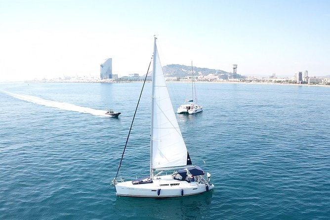 Enjoy the best boat trip in Barcelona! You will sail along the coast of Barcelona in a private trip with your partner, family or friends. Enjoy the skyline of this amazing city from the sea degustating a tasty snacks and a drink per person (included in the price). The trips start in Port olimpic of Barcelona and ends in the same port. Depending on the season you will be able to swim in the Mediterranean sea.<br><br> Come and sail with us! you will not regret!<br> *Included: Boat rental, professional skipper, fuel, snacks and 1 drink per person.