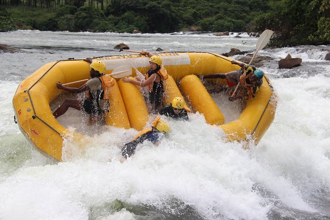 Our one day whitewater trip is incredible value for money, offering you return transport from Kampala, one-night accommodation either at the tea-house or the Nile River Camp, breakfast, lunch, plenty of beers and snacks after the trip and free photos. We're almost forgetting the 3-4 hours of incredible whitewater and a 19km journey down the mighty white Nile with the best crew in the business!!<br><br>NEW! Since 2019 we also offer riverboarding on every trip!<br><br>You can choose grade 3 or grade 5 (minimum ages 14yrs / 16yrs) and we will always try our best to be as flexible to your needs as possible.<br><br>Trips run everyday with minimum client number of 2 from Jinja or 4 from Kampala.