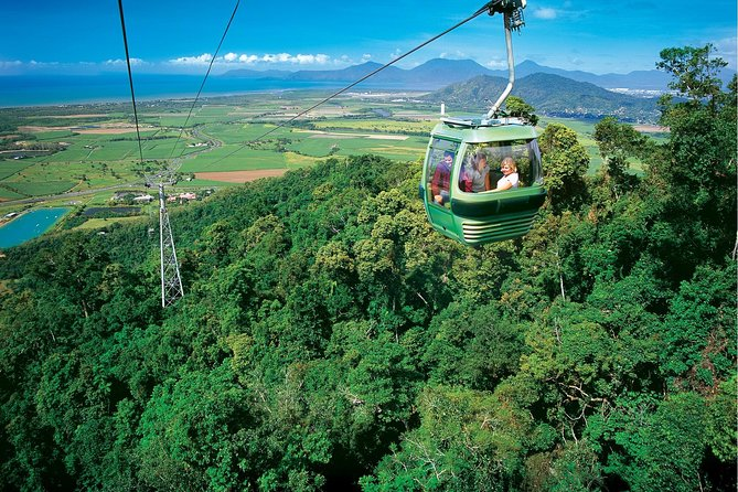 This small-group tour includes transfers from your hotel or port to Skyrail Rainforest Cableway where you will glide over the rainforest canopy as you make your way to Red Peak Station. From there explore the World Heritage listed rainforest before re-boarding the cableway to the Barron Falls. <br>View the magnificent Barron Gorge and Barron Falls and visit the Rainforest Interpretive Centre before re-boarding the cableway and making your way to Kuranda. I will meet you there and transport you to Kuranda village in the rainforest (if you prefer, take a five-minute walk). There you will have at least two hours to eat, shop and explore.<br>Afterwards, I will take you to Kuranda Railway Station to board the Kuranda Scenic Railway for a journey through the rainforest that takes you over 37 bridges & through 15 tunnels. From Freshwater Station you will be transferred back to your hotel or port. Alternatively, you may choose to travel onwards to Cairns Station and walk to your city accommodation.