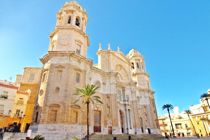 """Learn about the historical center of Jerez and Cádiz and see its architectural history<br>Find the original camera obscura at Alcázar de Jerez<br>Visit the ancient Cádiz Cathedral<br><br>There are few places in Spain which can lay claim to the international recognition enjoyed by Jerez. Thanks to its wine, Jerez or sherry, the equestrian tradition, the bulls, flamenco and motor racing, this Andalusian town's name has been known far and wide for many years.<br><br>The """"Tacita del Plata"""" is considered the oldest city in the Western World. It was founded (in 1100 BC) by the Phoenicians, a seafaring people who turned Gadir into an important trading colony where the Carthaginians, the Romans, the Visigoths and the Muslims would all subsequently settle."""