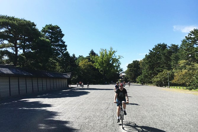 For those short on time and high on energy, join us for a one day all-you-can-Kyoto bike tour!<br><br>Experience the tranquility of one of world's largest wooden buildings, learn about the history of Kyoto at the Imperial Palace Park, reflect on life at the stunning Golden Pavilion, enjoy a traditional sit-down lunch, capture the essence of Kyoto in the Gion geisha district and discover the majesty of the mighty Fushimi Shrine.<br><br>Our shop is a 2 minute walk from Kyoto central station, our groups are small, our bikes are top quality 'Giant' hybrids, and our guides are relaxed, bilingual, experienced and safe! <br><br>Sit back and let Cycle Kyoto show you around town!<br><br>