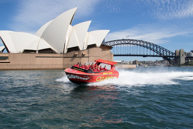 Feel your adrenalin rush on a 30-minute Sydney Harbour Jet Boat Thrill Ride. As the jet boat powers across Sydney Harbour, see the Sydney Opera House and the Sydney Harbour Bridge from a different perspective, and experience the thrill of on-water maneuvers like 270-degree spins . This is Australia's most popular jet boating adventure, blasting off from Circular Quay every hour, every day.