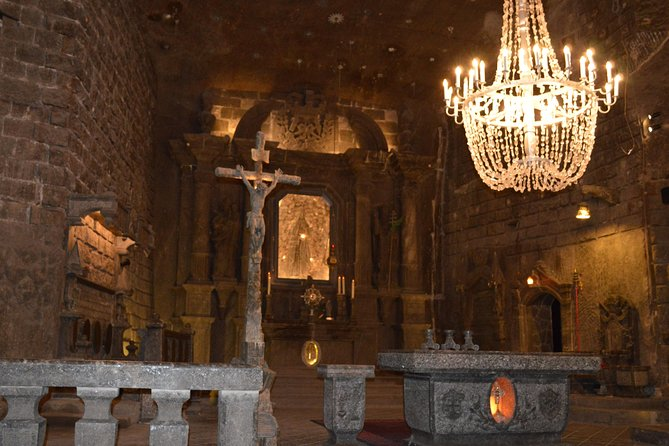 On this tour you will discover 2 Unesco World Heritage sites: Cracow Old Town and Wieliczka salt mine. <br>Transport is usually by train. However, in case of last minute bookings - it may be a minibus. Train tickets to Cracow will be sent to you by e-mail or delivered to your hotel/accommodation. The local guide will pick you up at the train station in Cracow and will show you the magnificent Old Town where you will have some free time. Then you will discover Wawel hill with the Royal Castle and the Cathedral where Polish kings were buried. <br>The next step with be the visit of the salt mine in Wieliczka - a unique place that attracts tourists from all over the world. You will participate in a guided visit and will have a chance to admire salt chambers, chapels, sculptures and monuments made by the miners. The guide will tell you about the long history of this place - over 700 years!<br>After the visit you come back to Cracow to take the evening train to Warsaw.
