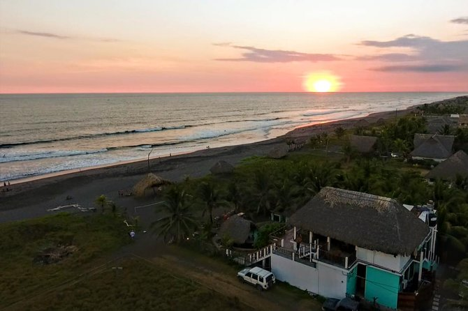 Surf Lessons in El Paredon on the black sand Pacific beach of Guatemala, Puerto Quetzal, GUATEMALA