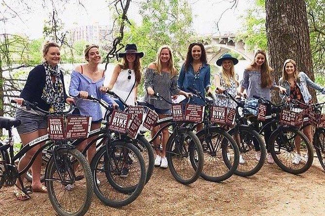 Paz, amor y recorrido en bicicleta por Zilker, Austin, TX, ESTADOS UNIDOS