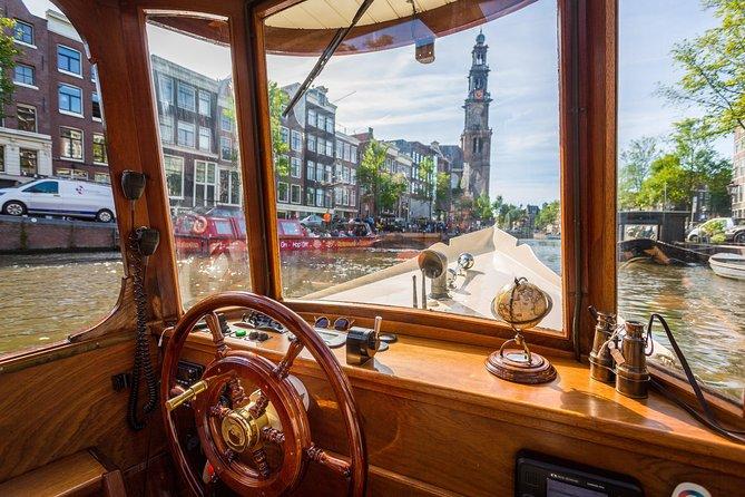75min Salon Boat Cruise - Incl. drinks & Dutch cheese - departure @Homomonument, Amsterdam, HOLLAND