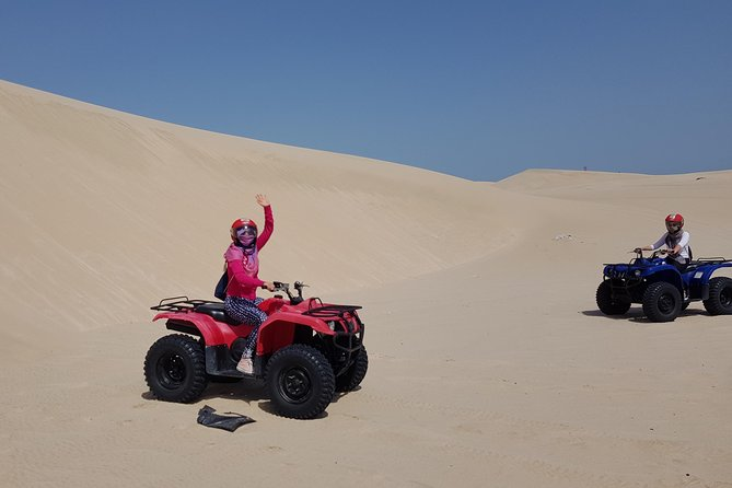 A super fun tour in the Qatari Desert and that suites for every age riders can go where ever you wish