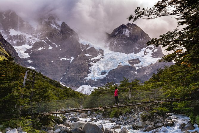 """Explore the highlights of Torres del Paine National Park on this 5-day guided small group tour departing from Puerto Natales. <br>Ideal for nature and trekking lovers, the unmistakable geography of this park places the W circuit as one of the most recognized worldwide and one of the most interesting places in the southern hemisphere. See up close the massive granite towers that give the Park its name, walk alongside the breathtaking """"Cuernos del Paine"""" and be amazed by the stunning shapes of the """"Francés Valley."""" Come and enjoy the awe-inspiring Grey Glacier, where the ice blends into the clouds on the horizon.<br><br>Day 1: Briefing,Transportation to Torres del Paine, lodging at Central Sector<br>Day 2: Hike to Las Torres Base, lodging at Central Sector<br>Day 3: Hike to the Francés Sector, lodging at Francés Sector<br>Day 4: Hike to the Francés Valley, lodging at Paine Grande Sector<br>Day 5: Hike to Grey Glacier Lookout Point, return in catamaran via Pehoé Lake, return to Puerto Natales"""