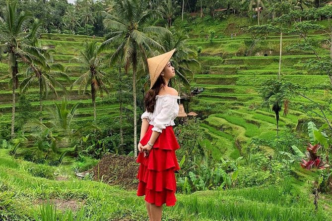 Experience Ubud has to offer on this 8 to 9-hour private tour to see: The Sacred Ubud Monkey Forest, Batuan Temple, Tegalalang Rice Terrace, Tegenungan Waterfall, Coffee Plantation and 1-hour free time in Ubud. This tour will take you to discover a highlight or more of the island's hub of nature and culture of Ubud, Bali. Perfectly designed for solo, couple, family and small-group up to 10 traveler(s). <br><br>Tour Inclusions: Private air-conditioned car, driver/guide, all entrance tickets as per itinerary and bottled water <br><br>Tour Exclusions: Lunch and other personal expenses <br><br>Pick up & drop off: Sanur, Ubud, Seminyak, Legian, Kuta, Canggu, Jimbaran, Nusa Dua, Benoa and Denpasar.