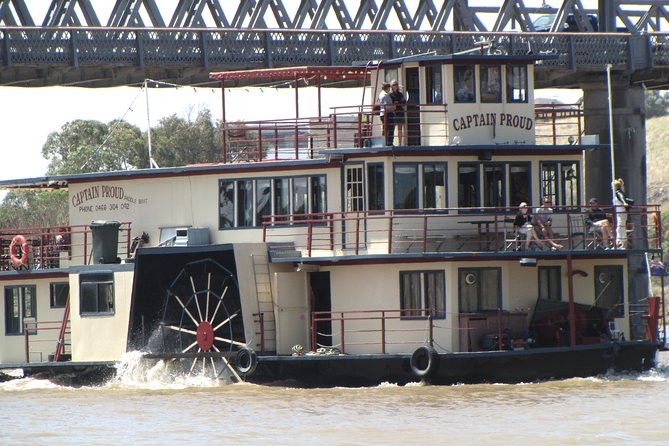 Book forward from 1st August 2020 and all Bookings for our Tours will be allocated to your own luxury vehicle as PRIVATE CHARTER at no extra charge. Covid 19 safe. Min 2 passengers.<br><br>Adelaide Hills Sightseeing prior to the River Murray Cruise. On arrival to the river township of Murray Bridge we will board the Paddle Wheeler 'Captain Proud' and depart for our 3 Hour Cruise, relax on board as our Captain provides an interesting commentary on the river system including some Aboriginal folklore.<br><br>While you journey on the river, relax and enjoy the beauty and tranquility of the surroundings and indulge in a 2 Course Lunch.<br><br>Take in the peaceful tranquility of the river red gums while spotting galahs, cockatoos, pelicans and kangaroos.