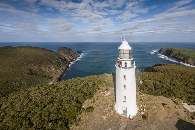 Join our local Bruny Island tour guides and discover the original Bruny Island Sightseeing, Food & Lighthouse Tour from Hobart, including a scrumptious local produce lunch. You'll sample local mouth-watering produce;  Bruny Island Ciders (Unique experience), Cheese & Juicy Fresh Oysters with wood-fired oven bread for a rustic picnic morning tea, chocolate, fudge, and honey. See White Wallaby in the wild, climb the Historic Cape Bruny Lighthouse, we are the only operator with exclusive access to the Lighthouse so you will be able to beat the crowds and get a unique small group tour. Explore the Neck Wildlife Reserve and Truganini Lookout. Local Tasmanian and Bruny Island tour guides will show you the best vantage points and inform you of the amazing history of the area. <br>Skip the queues with our pre-booked tour schedules. Sit down for lunch and order from our collaborative menu including local seafood, lamb, and more yummy items. All food tastings and lunch is included in the price.