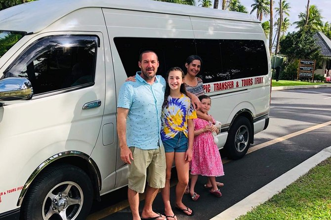 - Private Transfer for the family<br>- Fully aircondition vehicle<br>- Free baby seat provided upon request<br>- 30 minutes souvenir shopping stop in Nadi before drop off at the airport