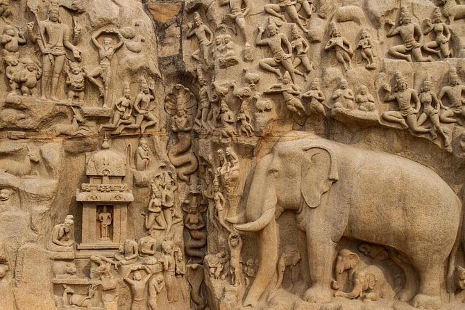 Welcome to have a life time experience in group of monuments, which was carved out of rock along the Coromandel Coast in the 7th and 8th centuries rathas (temples in the form of chariots), mandapas (cave sanctuaries), giant open-air reliefs such as the famous Descent of the Ganges, and the Shore Temple, with thousands of sculptures to the glory of Shiva; these have been classified as a UNESCO World Heritage Sites.