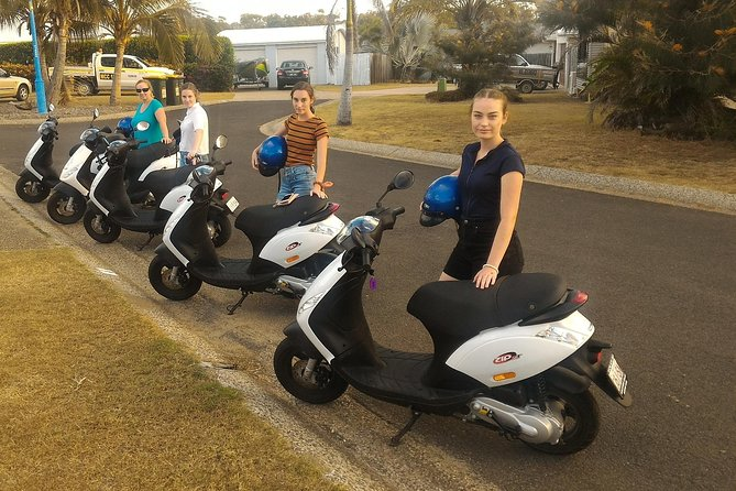 *We are the only Scooter hire And eBike Hire in Town - TO RIDE A SCOOTER YOU SIMPLY NEED A CAR DRIVERS LICENCE.<br>*Be independent and free to go everywhere ... no parking issues, no melting hot cars to go back to, less pollution.<br>*OPTIONS: <br>1): Hire a scooter privately <br>2): Join us on our Kanga Tours<br>IMPORTANT: PLEASE BE AWARE: IN TOWN ONLY TELSTRA HAS FULL COVERAGE call us before getting to Agnes if you have a different server. <br><br>We offer scooter rentals and eBike. All of our scooters are well maintained and changed regularly. The roads are quiet and stress free. We also work with partner companies, so if you are interested in a cruise or a tour on a 4X4 send us an email for more information. <br>Arriving in Agnes Water it will be clear that there is the need to move efficiently. The cost of hiring a scooter for a long term is way less than call a taxi each time and gives you the independency you need during your holidays.<br>We also arrange a pick up and drop from your accommodation.<br>