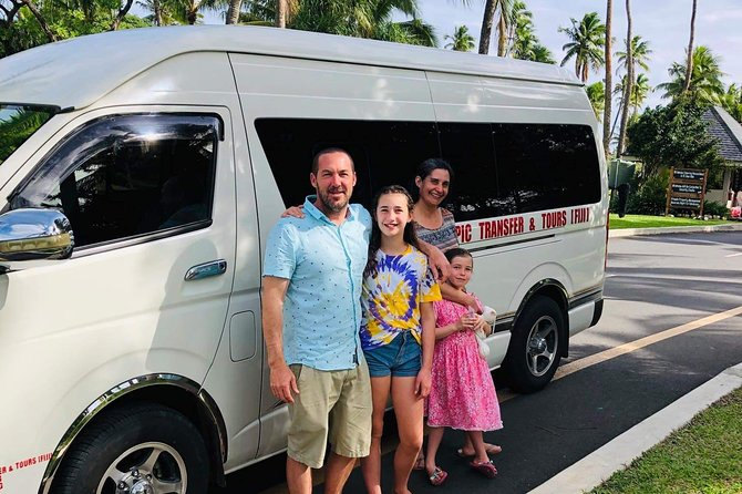 - Private Transfer for the family. No picking other guests along the way<br>- Fully aircondition vehicle<br>- Free baby seat provided upon request<br>- 30 minute souvenir shopping stop at Jacks Nadi should you request to
