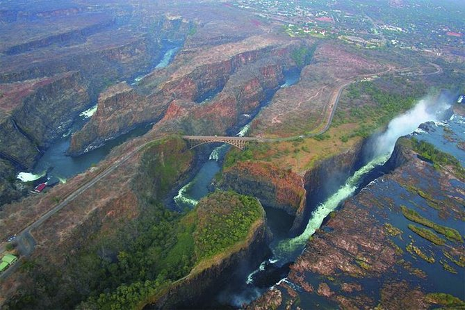 The fact that you see the Beauty of the Majestic Victoria Falls in the sky, You also have the chance to see the Zambezi River and the two border towns. It really complements the ground tour.