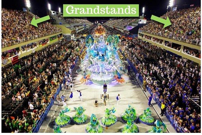 Ticket Arquibancada, Frisas y metro gratis al Sambódromo - Desfile de Carnaval de Río, Río de Janeiro, BRASIL