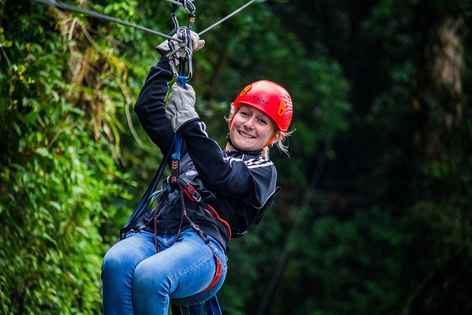 Combinación en el Parque de Aventura: Recorrido con tirolina, Superman y Mega Tarzán en Monteverde, Monteverde, COSTA RICA
