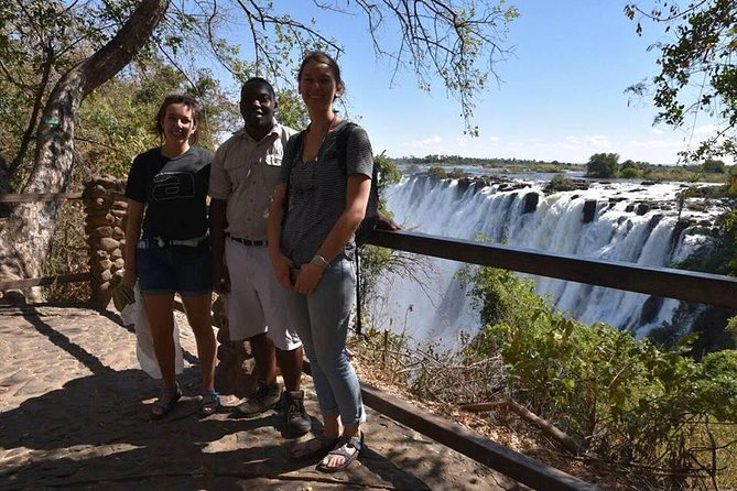 "Victoria Falls is one of the Seven Natural Wonders of the World and the major waterfall on the Zambezi River in Africa. It is famous for being the largest waterfall in the world, in the wet season. The African people who live around the falls call it Mosi-oa-Tunya which means ""smoke that thunders""."