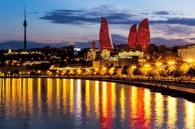 The tour includes 35 sightseeings:<br>1. Sabir's garden<br>2. Governor's garden <br>3. Philharmonic Concert Hall<br>4. Sadhigov Brothers' Mansion<br>5. Presidential Administration of Azerbaijan Republic<br>6. Historical buildings from the 19th century <br>7. Baku funicular<br>8. Highland park<br>9. Alley of Martyrs <br>10. Baku Flame towers <br>11. Baku seaside boulevard <br>12. National Carpet Museum <br>13. International Mugam Center of Azerbaijan<br>14. Small Venice <br>15. Puppet theatre <br>16. Palace of Happiness <br>17. Green Theatre <br>18. Nizami street <br>19. Fountain square<br>20. Museum of Literature <br>21. Mirbabayev's mansion<br>22. Nargis Mall <br>23. Ismaillia building<br>24. Yusif Mammadaliyev's monument<br>25. Haji Zeynalabdin Tagiyev's girls' school<br>26. Azerbaijani Independence monument<br>27. Baku Realni school<br>28. The building of Executive Power of Baku<br>29. Subway station Old City<br>30. Mirzabeyov's mansion<br>31. National Museum of Art<br>32. De Boure mansion <br>33. The National Parlament<br>34. Clock Tower<br>35. The Haydar Aliyev Foundation <br>