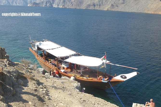 """The Musandam region, separated from the rest of Oman by the United Arab Emirates, is the northern most part of the Sultanate. The dramatic Musandam peninsula is perhaps one of the most scenically spectacular area in the Gulf. These spectacular fjords have given the area a second name """"The Norway of Arabia"""". The peninsula is mainly inhabited by the Shihuh, who are fishermen and herdsmen and are probably descended from the original inhabitants of northern Oman. Fishing is the peninsula's main industry with packing plants at al-Khasab and Bay'ah. Transportation is mostly by sea, since no roads cross the forbidding terrain.<br>Musandam - Khasab is very close to United Arab Emirates and easily access able by road for guest from United Arab Emirates.<br>Musandam - Khasab makes it very unique because of Spectacular Fjords, Natural dolphin, Coastal view, Tallest Mountain, Historical Telegraph & Seebi Island, bedouin villages in the Fjords & in the mountains."""