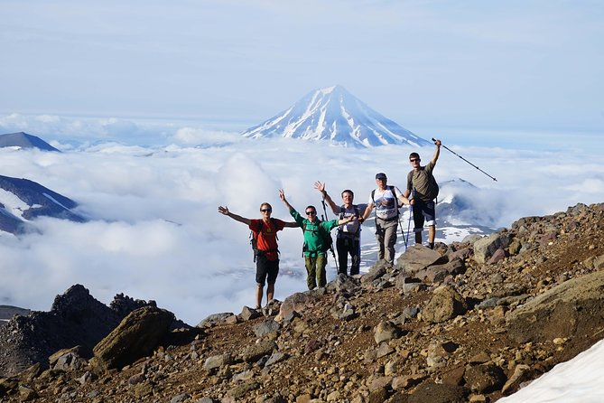 Trekking through Avachinsky volcano will deliver unique travel impressions. From the height you may enjoy picturesque sceneries, admire the active volcano, see the majestic view on Petropavlovsk-Kamchatsky city.<br>It is a great chance to make amazing photos and truly enjoy the untouched nature!