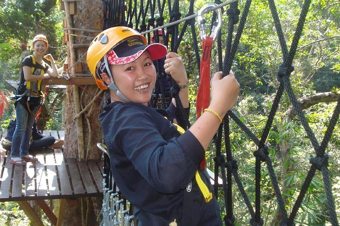 Go for a 'real' trek, descend steep mountain slopes using steel cables to safely hold you, rise to the challenge of a dare-devil 'abseiling' in a 50 m waterfall, more than 120 m long zip-lining and cross the mind-blowing 'via ferrata'! This adventurous climb will ultimately reward you with incredible views from the top of the limestone mountain. <br><br>Take this tour combines all the activities that Vang Vieng is famous for:kayaking on the Nam Song River and beautiful rural scenery