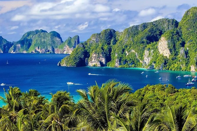 Explore Phi Phi and Rang Yai Islands during this diverse boat tour. We start at Monkey Beach, where you can observe macaques in their natural habitat. A delicious lunch is served at the Phi Phi Don restaurant with beautiful sea view. You can admire beautiful natural sceneries at Viking Cave and Loh Samah Bay. Certainly you will take a lot of beautiful photos here. Pileh Cove offers you its emerald waters for swimming and snorkeling. And follows famous Maya Bay, where they made the popular movie The Beach with Leonardo DiCaprio. You can rest, swim or snorkel in clear water among many fish at Rang Yai Island. The cruise will finish at Phuket Boat Lagoon Marina. Then we'll take you back to your hotel in the Phuket area. The boat tour price also includes a tour guide and round-trip hotel transfers in Phuket province.