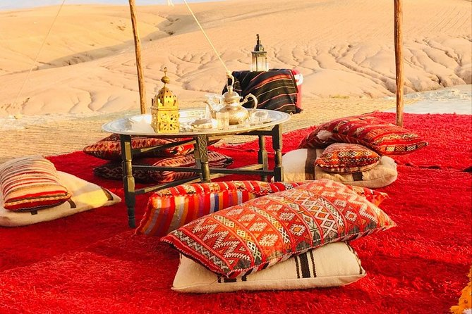 Magical dinner on sunset in Agafay desert ( group and food tour), ,