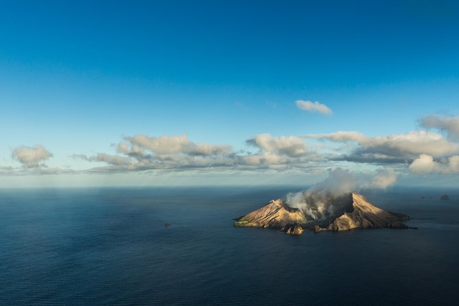 Enjoy an unforgettable helicopter flight over White Island, New Zealand's most active volcano. This flight will take a 70-minute flight over one of the world's most unique geological sites. While in flight, your pilot will explain points of interest. Maximum number of passengers is 9 on this small-group tour. This is a flight only and does not include landing on the crater.