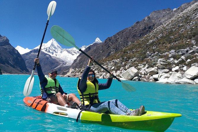 Tours a la laguna Paron con paseo en Kayak y Bote, Huaraz, PERU