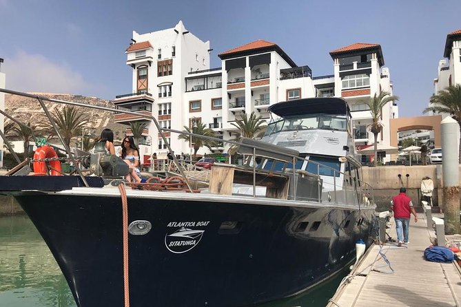 Agadir is an attractive tourist location that you have to explore from many different ways especially its fantastic and clean coastline. For spending your amazing sailing and fishing experience on Agadir coastline with your friends, come and enjoy your fantastic 5-hour ship excursion. Our ship is the biggest one in Agadir city and has many bedrooms to relax during your sailing excursion.