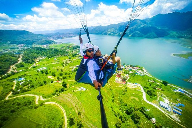 Paragliding in Pokhara is the third best Paragliding in the world. It is the most adventurous private tour from where you can explore the eye catching beauty of Pokhara sharing the sky with birds as you fly over the mountains, green hills, Fewa lake and scenic villages. Probably this is the best adventurous sport to do in Pokhara.