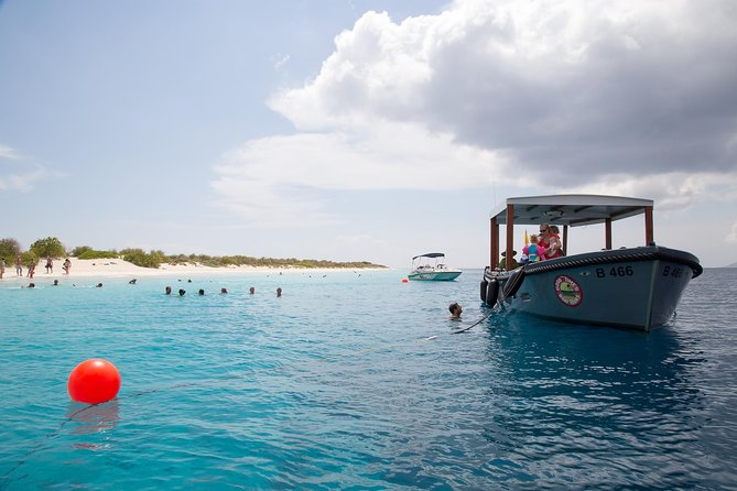 "Swim, snorkel, stay aboard the Good Times or relax at No Name Beach, one of Bonaire's best beaches located on the uninhabited island of Klein Bonaire.<br><br>Or take in the abundance of fish life, corals and if you are lucky… you may spot a turtle!<br><br>There is no better way to visit Klein Bonaire, than on the ""Good Times""! The Good Times will stay with you at all times to provide you shade, drinks and snacks which are all rare things to find on Klein Bonaire."
