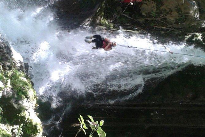 Waterfall Canyoning At Rincon De La Vieja Volcano, Liberia, COSTA RICA