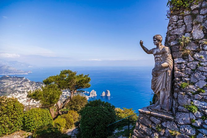 "MEETING POINT: PORT OF CAPRI MARINA GRANDE 10:30AM <br>AT BAR GABBIANO INTERNET CAFE PIER 23<br><br>This experience is ideal for those who want to discover the whole island of Capri in just one day.<br>let yourself be guided on a 360 ° tour. Discover with us this wonderful island of Capri.<br>We will start with an amazing boat ride, we will use a typical capri boat (private) I will show you all the beauties that the island of Capri can offer: a tour of caves and bays lasting an hour .... it will leave you breathless !!<br>Later we will move with a mini bus to the highest part of the island, Anacapri, where it will be possible to enjoy an incredible view, stroll in the small village, reach the summit of Mount Solaro with the chair lift or simply relax tasting delicious local specialties.<br>After about 2 hours we will reach the center of Capri, the heart of the island, where the famous ""Piazzetta"" is located, passing through the small alleys characterized by the luxurious boutiques, we will reach the Gardens of Augustus, which offer the best view of the giant ""Faraglioni Rocks"" symbol of the island to leave you breathless once again."