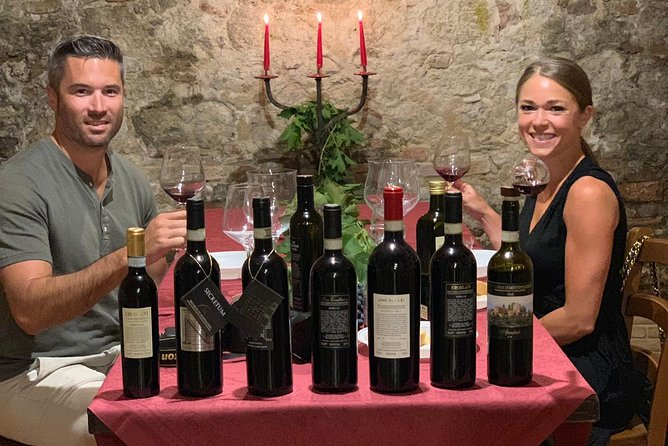 Montepulciano and Nobile Wine Tour - Experiences 1 day exciting trip in Montalcino.<br><br>Tour Length: 7/8 hours. <br><br>Dates: Every season. <br><br>Days of Week: Everyday. <br><br>Departure Point: From your accommodation - pick-up and drop-off in Florence or Siena province.<br><br>Departure Time: From Siena or nearby 09.00/09.30 AM – Florence 08.00AM <br><br>Note: During this excursion transport will be made in a Mercedes 9 seats minivan which offers the maximum comfort, with air-conditioning, large panoramic windows and comfortable seats. <br><br> Unless you don't specify you want to remain private, is possible to be joined with some other people in the party  ( maximum 1 van )<br><br>Popularity: *****  (best seller wine and food tour in Tuscany)