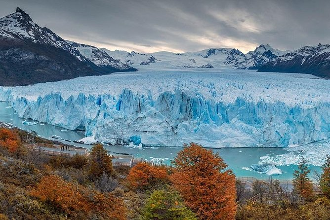 Perito Moreno Glacier Balconies with boat ride in front of glacier's wall, El Calafate, ARGENTINA