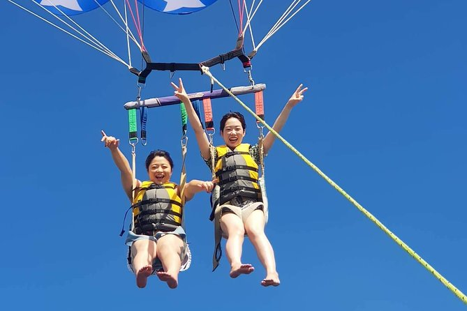 A couple, friend, family, or even company trips will enjoy our most popular parasailing activity! Soaring at Hagatna Bay and enjoying the panoramic view of the Hagatna Bay!! What are you waiting for? Book with us! We are waiting for you(^^,)/