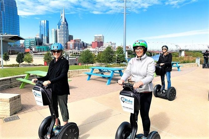 Comesee Nashville up close and personal on our 1.5- or 2.5-hour Segway tour. Tours start and end just a block from lower Broadway. <br><br>1.5-HOUR MUSIC CITY SNAPSHOT TOUR<br>Travel around the entertainment district and take in sights such as Ascend Amphitheater, Schermerhorn Symphony Center, Country Music Hall of Fame, Bridgestone Arena, the Ryman Auditorium and our Music City Center. This tour is perfect for first time riders, experienced riders on a time crunch and those just stopping by Nashville for a day! Begin with a 30min training session before heading out for an hour of fun!<br><br>2.5-HOUR DOWNTOWN TOUR<br>We'll take you 5 miles through Nashville covering such landmarks as the Schermerhorn Symphony Center, Country Music Hall of Fame, Bridgestone Arena, Fort Nashborough, Bicentennial Mall, Farmer's Market, and the Tennessee State Capitol. We'll even cover areas most tours can't get to, because you're on your very own Segway! Tour has a 30min training session followed by 2hr Segway tour!