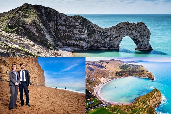 From Weymouth, join us and experience over 180 million years of Jurassic Coastline on this enormous full day tour. We visit 10 plus stops on the Jurassic Coast exploring how this amazing coastline was formed and what made this area a UNESCO worldheritage site. <br>> Ride in comfort round-trip from Weymouth<br>> Hear live commentary on board from the driver-guide<br>> Get great photo ops throughout the day