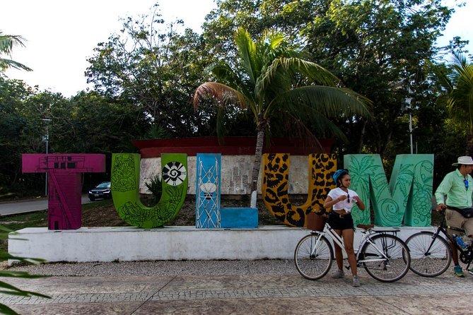 Excursão de bicicleta por dentro de Tulum: Ruínas Maias, praia caribenha, arte e comida, Tulum, MÉXICO