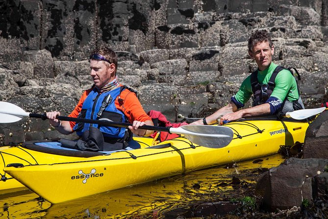 Sea kayaking in Ireland is an activity on the up and offers the opportunity to get close to nature and to travel to places inaccessible by any other form of transport. We run four different routes on the Giants Causeway coast for different abilities and to accommodate the weather and sea forecast.<br><br>The route that passes the Causeway itself is an exciting paddle that requires competent kayaking skills. We use many other routes suiting beginner to intermediate kayaking skills such as via Dunluce Castle and the magical cliffs at Whiterocks and from Ballintoy to Carrick-a-rede Rope Bridge. Giant's Causeway coastline is undoubtedly one of the most popular tourism locations in Ireland, so it can get busy on the walking traditional route. Spending a half a day exploring the area surrounding the Causeway is a fulfilling and fascinating experience. Sea caves, smugglers coves and geology abounds in the short stretch of coastline to either side of the Causeway itself.