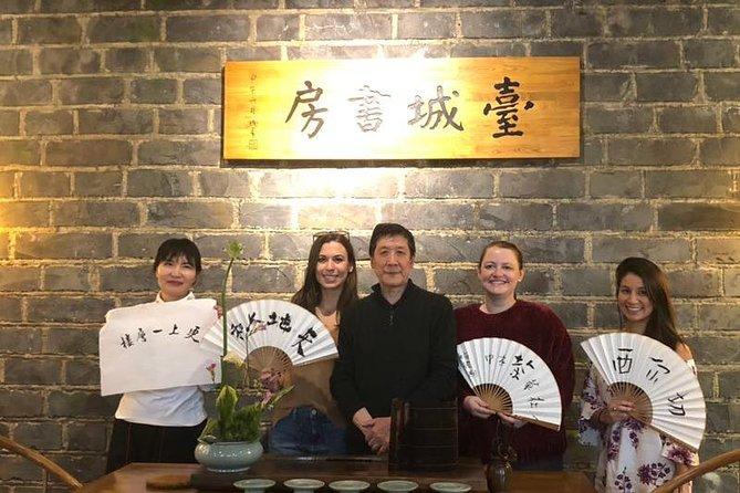 Make your personal folding fan inside Ming Dynasty Wall, Nanjing, CHINA