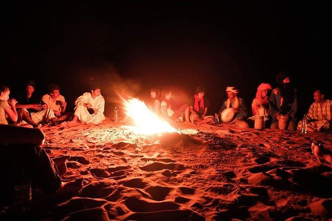 Day and Night by Camels in Erg chebbi Dunes, ,